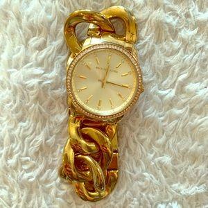Michael kors Lady Nini Gold Tone Chain Link Watch